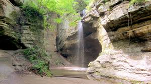 Matthiessen State Park Trail Map by Starved Rock And Sandstone Point Overlook Trail Illinois