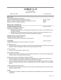 Resume Sample Model by Project Management Resume Template Zuffli
