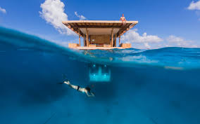 the manta underwater room is one of the coolest hotel rooms we