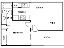The Lenox Floor Plan 1 Bed 1 Bath Apartment In Longview Tx Princeton Club