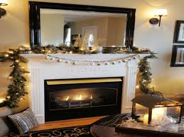 modern white bookcases no mantel fireplace garland decorating
