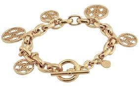 monogram charm michael kors gold new monogram charm chain bracelet tradesy