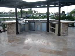 Brinkmann Backyard Kitchen by Bamboo Landscapes Outdoor Kitchens Landscaping With Waterfalls