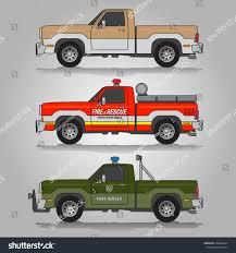 Old Ford Truck Vector - vector illustration three variations old seventies stock vector
