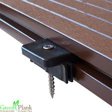 hidden fastener system hidloc for composite decking boards hard