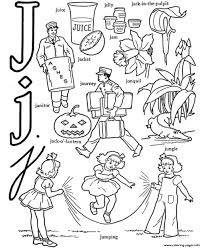 alphabet words of j printable9b67 coloring pages printable