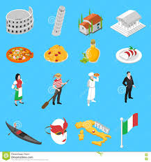 german culture traditions isometric icons collection stock vector