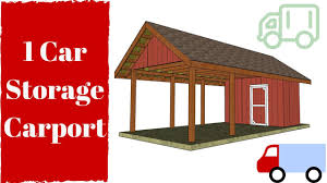 carport building plans carport with storage plans free youtube