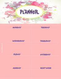 party menu planner template weekly planner weekly planner template with a pink background and pastel colors splashed around the title