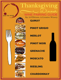 thanksgiving wine pairing guide invintions a creative winery