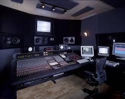 interior modern style home music studio design with white