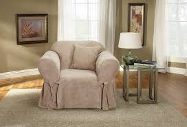 Armchair Slipcovers Sure Fit Soft Suede Box Cushion Armchair Slipcover U0026 Reviews Wayfair