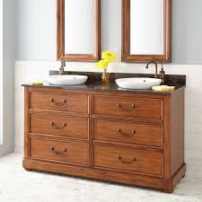 bathroom natural wood ikea double vanity with shelves and drawers