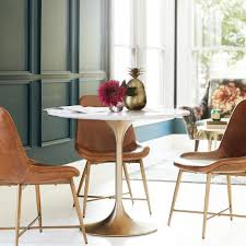 Tulip Table And Chairs Gold And Marble Leilani Tulip Dining Table World Market