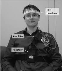 eeg headband wearing eeg headband and mobile recording devices