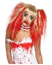 Bloody Nurse Halloween Costume Bloody Pigtail Wig Zombie Wig Girls Horror Shop