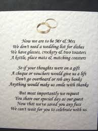 wedding gift list wording wedding invite gift poem image collections party invitaion and