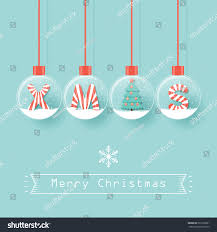 xmas letters christmas tree snow globes stock vector 522198931