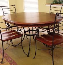kincaid iron and wood dining room table with four chairs ebth