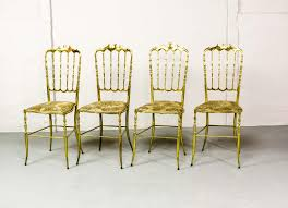 chiavari chairs for sale mid century polished brass chiavari chairs 1950s set of 4 for