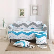 sofa hussen stretch streifen universal stretch möbel abdeckungen für wohnzimmer blau