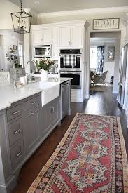 grey kitchen island 15 gorgeous white kitchens with coloured islands the happy housie