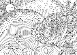 man surfing big wave beautiful coloring book