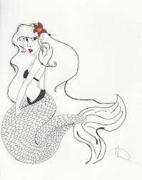 mermaid drawing michelle cruz