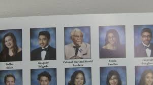 high school yearbook reprints why kfc paid to put colonel sanders in an obscure california high