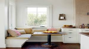 dining room cool white wall design ideas with banquette bench