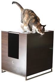 amazon com modern cat designs litter box hider brown cat