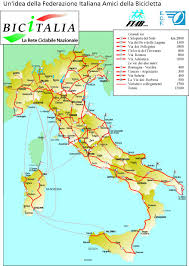 The Map Of Italy by My Route U2013 Cyclingeurope Org