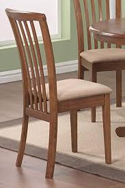 Microfiber Dining Room Chairs Amazon Com Set Of 2 Dining Chairs Microfiber Fabric Dark Oak