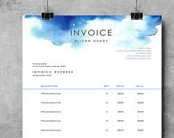 ms word templates for invoices invoice template etsy