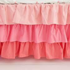 Baby Crib Bed Skirt Coral Ruffled Crib Skirt Ruffle Crib Skirt Ruffled Crib Skirt