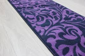Floral Runner Rug Element Warwick Black Purple Damask Rug Buy Rugs Online In The Uk