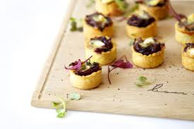 mini canape canapés ideas mini caramelised and brie tartlets