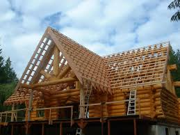 Roof Framing Pictures by Hand Framing Roof On A Log House Carpentry Picture Post