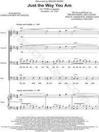 bruno mars just the way you are arr chris peterson ttbb choir