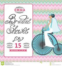 Vintage Bridal Shower Invitations Bridal Shower Invitation With Bride On Retro Stock Photo Image