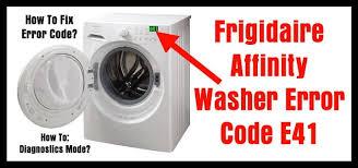 Frigidaire Laundry Pedestal Frigidaire Affinity Washer Error Code E41 How To Clear