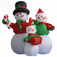 Lighted Snowman Outdoor Decoration by Large Outdoor Christmas Inflatable Snowman Decorations Family Led