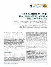 asmscience six key traits of fungi their evolutionary origins