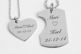 his and hers dog tags mini his hers dog tag heart small necklaces engraved necklaces