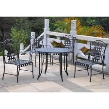 furniture contemporary black wrought iron patio furniture black