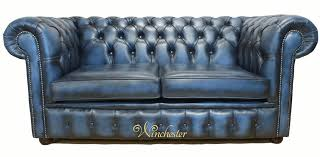 blue chesterfield sofa chesterfield 2 seater antique blue leather sofa offer
