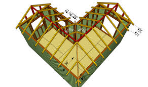 l shaped garage installing the rafters outdoor shed plans free pinterest