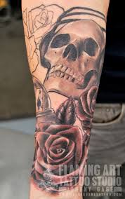 nice skull with headphones tattoo in 2017 real photo pictures