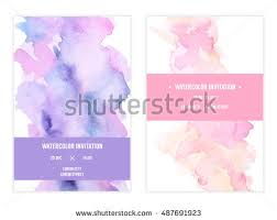 watercolor wedding invitation stock images royalty free images