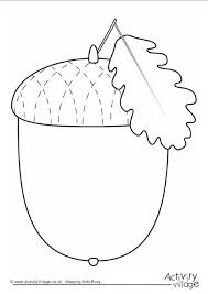 Thanksgiving Writing Pages Acorn Writing Frame Fall Coloring Pages Pinterest Craft